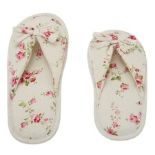 Floral Peonies Printed Cotton Women's Memory Foam Slipper