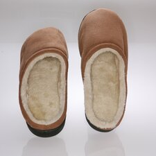 Camel Suede Male Slippers with Wool Fleece Lining