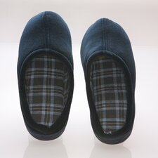 Vamp with Checked Cotton Fabric Lining Male Slippers