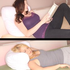 <strong>Deluxe Comfort</strong> Petite Multi Postion Reading in Bed Pillow with Configurable Micro Cover
