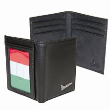 <strong>Vespa</strong> Credit Card Fold with Italian Flag in Black