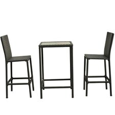 Outsunny 3 Piece Bistro Dining Set