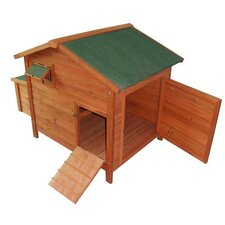 Pawhut Deluxe Wooden Large Chicken Coop/Hen House with 2 Roosting Poles
