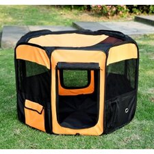 Deluxe Soft Sided Folding Pet Playpen / Crate