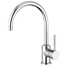 Water Creation F5-0003 Gooseneck Kitchen Faucet With Mounting Plate and Side Spray Option