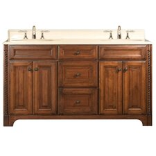 "Spain 60"" Double Standard Bathroom Vanity Set"