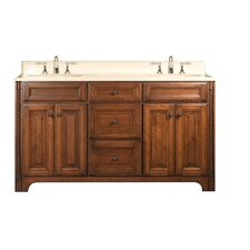 "Water Creation Spain 60B 60"" Golden Straw Double Sink Bathroom Vanity And Spain-MC-6036 Matching Medicine Cabinet"