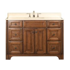 "Water Creation Spain 48B 48"" Golden Straw Single Sink Bathroom Vanity  And Spain-MC-4836 Matching Medicine Cabinet"