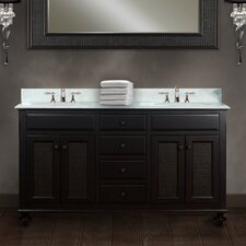 "<strong>Water Creation</strong> London 60"" Double Standard Bathroom Vanity Set"