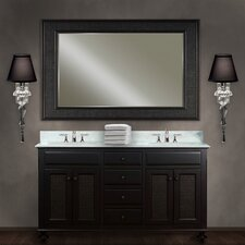 "Water Creation London 60B 60"" Dark Espresso Double Sink Bathroom Vanity And LONDON-M-6036 Matching Mirror"
