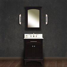 """Water Creation Manhattan 24B 24"""" Dark Espresso Single Sink Bathroom Vanity And Manhattan-M-2130 Matching Mirror"""