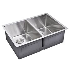 "29"" X 20"" Double Bowl Kitchen Sink"