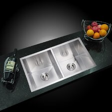 "<strong>Water Creation</strong> 31"" X 18"" Double Bowl Kitchen Sink"
