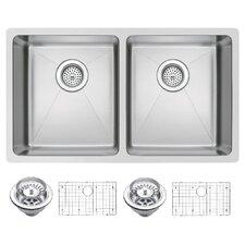 "31"" X 18"" Double Bowl Kitchen Sink"