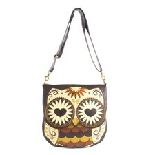 Owl With Heart Eyes Crossbody Bag