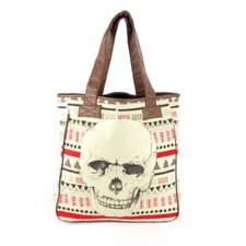 Tribal Print Skull Tote Bag
