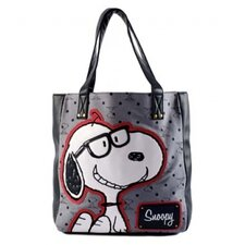 Snoopy with Preppy GlassesTote Bag