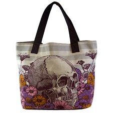 Skull and Flowers Tote