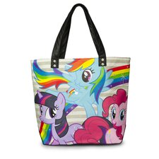 My Little Pony Multi Pony Rainbow Tote Bag