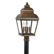 "<strong>Great Outdoors by Minka</strong> Mossoro 4 Light 23.5"" Outdoor Post Lantern"