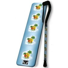 Ying Yang Tropical Sunset Single Point Cane
