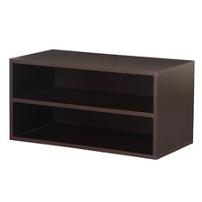 Modular Storage Large Cube with Shelf in Espresso