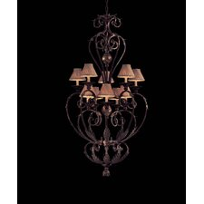Zaragoza  Chandelier in Golden Bronze with Optional Shades