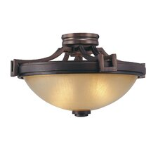 <strong>Metropolitan by Minka</strong> Underscore 2 Light Semi Flush Mount