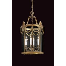 Vintage 4 Light Foyer Pendant