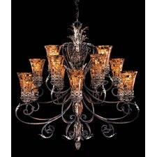 Salamanca Fifteen Light Chandelier in Caterra Bronze