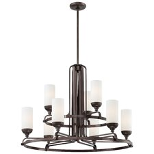 <strong>Metropolitan by Minka</strong> Industrial 9 Light Chandelier