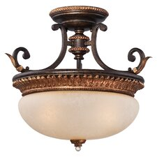 Bella Cristallo 3 Light Semi-Flush Mount