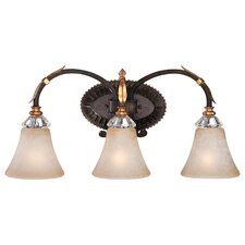 <strong>Metropolitan by Minka</strong> Bella Cristallo 3 Light Bath Vanity Light