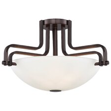 Industrial 3 Light Semi-Flush Mount