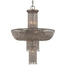Shimmering Falls 8 Light Crystal Chandelier