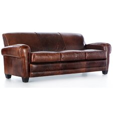 <strong>Hokku Designs</strong> Havana Paris Grain Leather Sofa