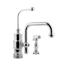 Wellington Single Handle Single Hole Kitchen Faucet with Side Spray