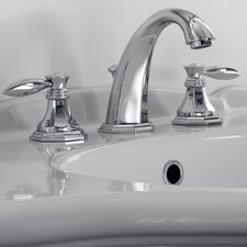 Topaz Widespread Bathroom Faucet with Double Lever Handles