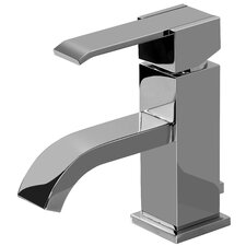 Qubic Single Handle Single Hole Bathroom Faucet