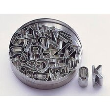Tin Alphabet Dough Cutter