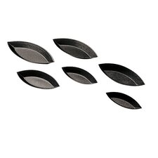 "7 Piece 3.62"" Non-Stick Plain Boat Mold Set (Set of 9)"
