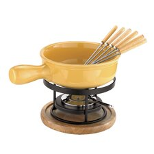 <strong>Paderno World Cuisine</strong> Cheese Fondue Set in Yellow