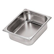 Stainless Steel Hotel Pan - 2/1 in Silver