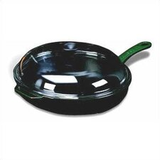 "<strong>Paderno World Cuisine</strong> Cast Iron 11"" Non-Stick Skillet with Lid"