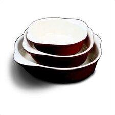 6.625' Enamel Cast Iron Round Dish