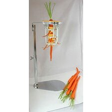 Chrome Steel Upright Carrot Peeler with Optional Stand