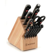 Gourmet 14 Piece Beech Knife Block Set