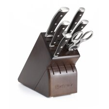 Ikon 8 Piece Walnut Knife Block Set