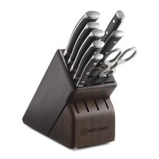 Ikon 9 Piece Walnut Knife Block Set