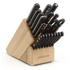 Gourmet 23 Piece Beech Knife Block Set